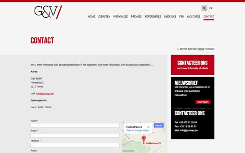 Screenshot of Contact Page gv-crepi.be - Contact - captured Oct. 8, 2014