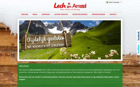Screenshot of Home Page lechamamstel.nl - Lech am Amstel - Amsterdam - captured Sept. 29, 2014