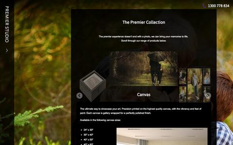 Screenshot of Products Page premierstudio.com.au - Our Collection | Photographers Perth | Premier Studio - captured Sept. 30, 2014