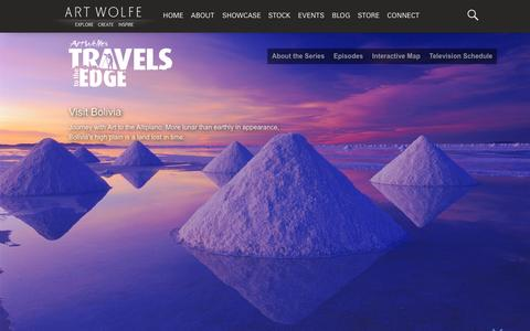Screenshot of Home Page travelstotheedge.com - Travels to the Edge - with Art Wolfe - captured Aug. 7, 2015