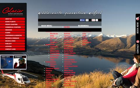 Screenshot of Site Map Page glaciersouthernlakes.co.nz - Sitemap - captured Oct. 2, 2014