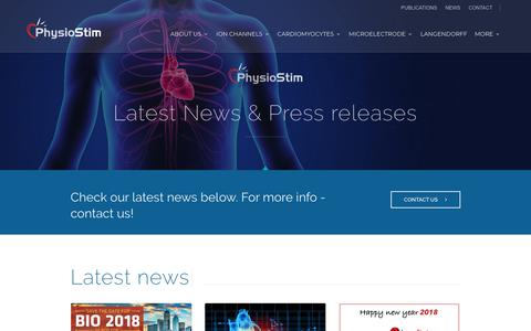 Screenshot of Press Page physiostim.com - Latest news - Physiostim - captured July 18, 2018