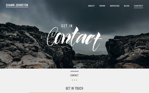 Screenshot of Contact Page shawnjohnston.ca - Contact | Shawn Johnston | Web Design in Vancouver, Canada - captured Feb. 22, 2016
