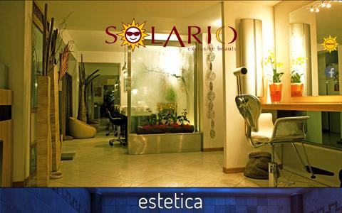 Screenshot of Home Page solario.it - Solario Beauty Spa - Catania - captured Oct. 13, 2015
