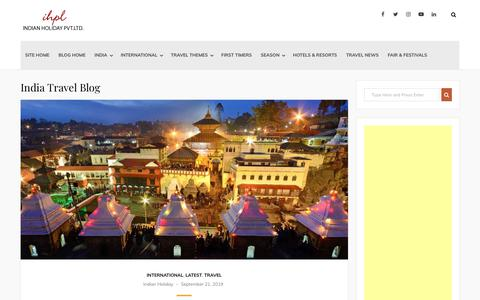 Screenshot of Blog indianholiday.com - India Travel Blog - captured Jan. 22, 2020