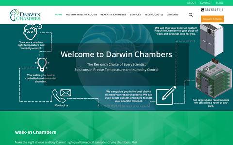 Screenshot of Home Page darwinchambers.com - Darwin Chambers Company | Controlled Environment Manufacturer - captured Nov. 13, 2018