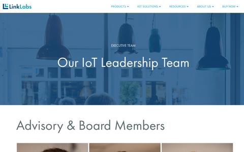 Screenshot of Team Page link-labs.com - Advisory Board & Executive Team | Link Labs | IoT Leaders - captured May 20, 2017