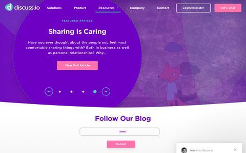 Screenshot of Blog discuss.io - Online Marketing Research - Market Research Platform|DIscuss.io - captured Nov. 6, 2018