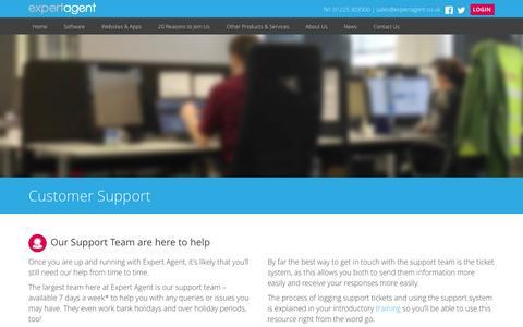 Screenshot of Support Page expertagent.co.uk - Expert Agent Support | Expert Agent Estate & Letting Agent Software - captured Nov. 2, 2014