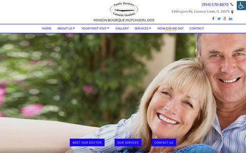 Screenshot of Contact Page hutchdentist.com - Dentist Near Me - Contact Us | Manon Bourque Hutchison, DDS - captured Sept. 25, 2018