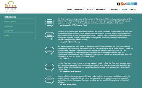 Screenshot of Press Page habitatventures.com - Habitat Ventures - captured Oct. 28, 2014