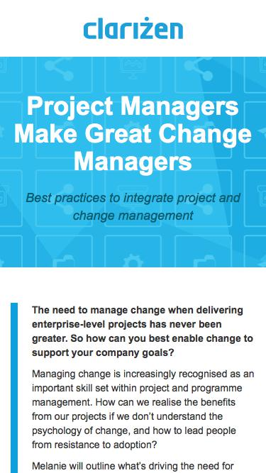 Project Managers Make Great Change Managers