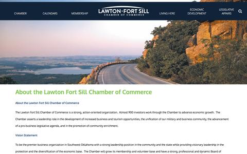 Screenshot of About Page lawtonfortsillchamber.com - Lawton Fort Sill Chamber of Commerce - About the Lawton Fort Sill Chamber of Commerce - captured Jan. 27, 2016