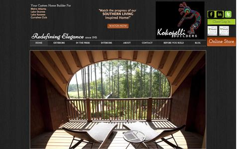 Screenshot of Home Page kokopellibuilders.com - Kokopelli Builders Custom Home Builder - captured Oct. 6, 2014
