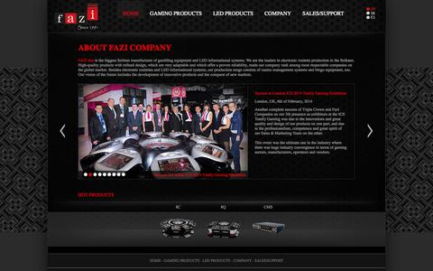 Screenshot of Home Page fazi.rs - Electronic Roulette Manufacturer - Fazi Company - captured Oct. 1, 2014
