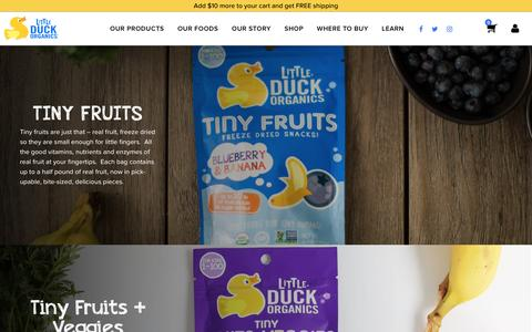 Screenshot of Products Page littleduckorganics.com - Our Products — Little Duck Organics - captured Jan. 10, 2017