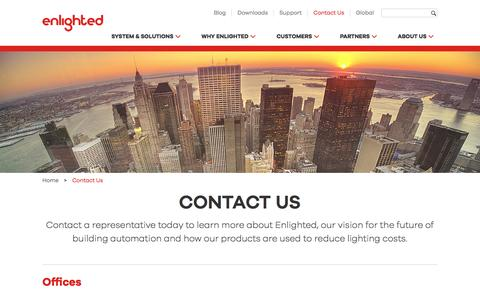 Screenshot of Contact Page enlightedinc.com - Contact Us - Enlighted - captured May 10, 2017