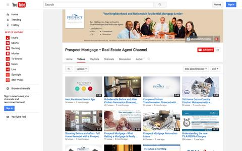 Prospect Mortgage – Real Estate Agent Channel  - YouTube