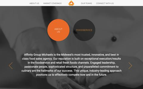 Screenshot of About Page michaelsinc.com - Affinity Group - Michaels - captured Oct. 18, 2018