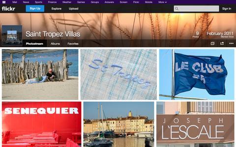 Screenshot of Flickr Page flickr.com - Flickr: Saint Tropez Villas' Photostream - captured Oct. 23, 2014