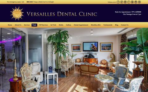 Screenshot of Team Page versaillesdentalclinic.com - Our Team - Versailles Dental Clinic Dubai - captured Jan. 13, 2016