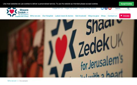 Screenshot of Team Page shaarezedek.org.uk - Shaare Zedek | Pages | Our People - captured Oct. 19, 2018