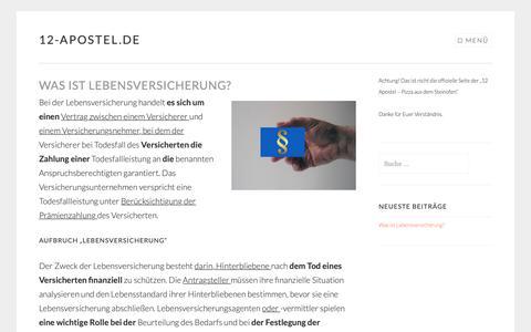 Screenshot of Home Page 12-apostel.de - 12-apostel.de | Eine weitere WordPress-Website - captured Dec. 2, 2018