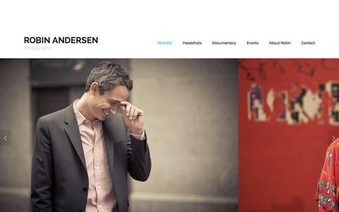 Screenshot of Home Page robinandersen.com - Robin Andersen - captured Sept. 12, 2015