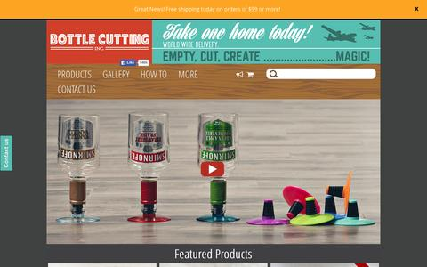 Screenshot of Home Page bottlecutting.com - The Kinkajou Bottle Cutter is easy and fun to use. - captured Dec. 6, 2015