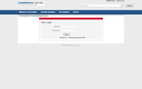 Screenshot of Login Page commerces-online.fr - Commerces Online - Annuaire de Boutiques en ligne - captured Nov. 3, 2014