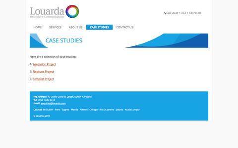 Screenshot of Case Studies Page louarda.com - Case Studies | Louarda - captured Sept. 30, 2014