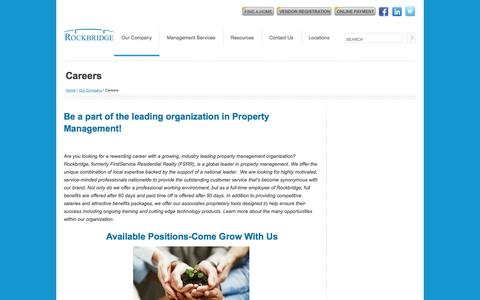 Screenshot of Jobs Page fsrr.com - View Career Opportunities | FSRR Property Management Company - captured Oct. 3, 2014