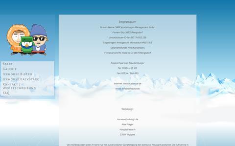 Screenshot of About Page icehouseneuwied.de - Impressum - Icehouse Neuwied - captured June 8, 2016