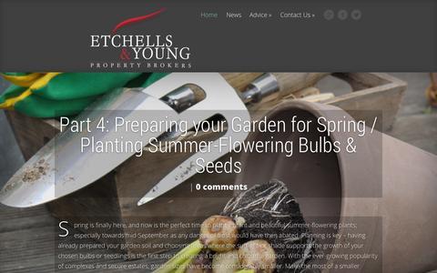 Screenshot of Blog etchellsandyoung.co.za - Etchells and Young Property Blog - captured Sept. 25, 2014