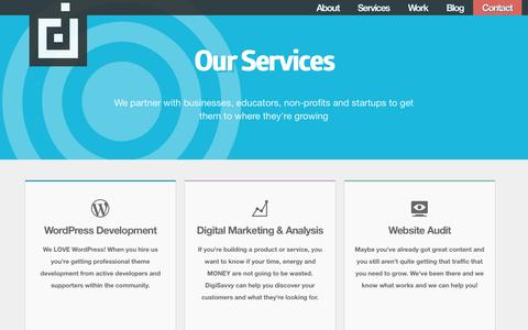 Screenshot of Services Page digisavvy.com - Services Archive - DigiSavvy - captured Sept. 30, 2014