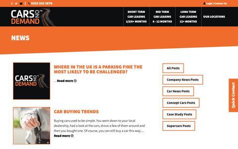 Screenshot of Press Page carsondemand.co.uk - Leasing News | Cars On Demand - captured Sept. 27, 2018