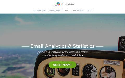 Screenshot of Home Page gmailmeter.com - Gmail Meter - Email Analytics & Statistics - captured March 1, 2016