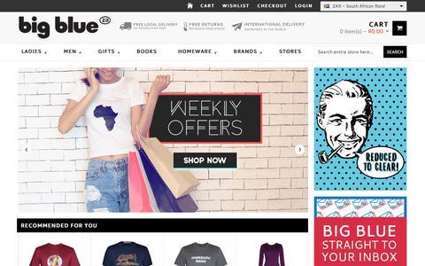 Screenshot of Home Page bigblue.co.za - Big Blue Online - Shop fashion, gadgets    Big Blue Online Shopping - captured June 25, 2017
