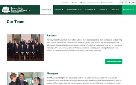 Screenshot of Team Page kmss.ca - Our Team | KMSS Chartered Professional Accountants - captured Oct. 17, 2017