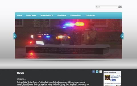 Screenshot of Home Page fairlawnpd.com - Fair Lawn Police Department - captured Oct. 5, 2014