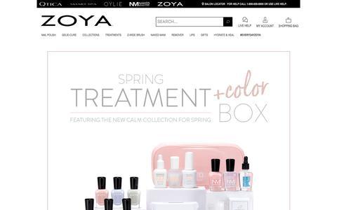 Screenshot of Home Page zoya.com - Zoya Natural Nail Polish & Nail Care Treatments - captured Jan. 18, 2020