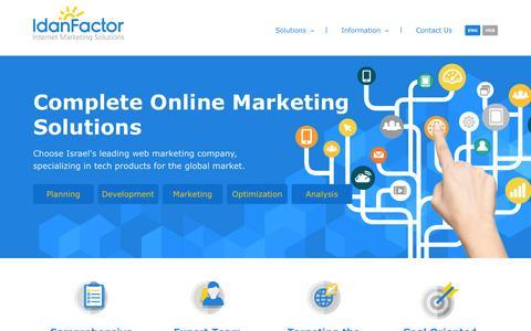 Screenshot of Home Page idanfactor.com - IdanFactor - International Internet Marketing Agency - captured Feb. 10, 2016