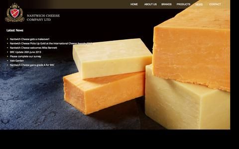 Screenshot of Press Page nantwichcheese.co.uk - Latest News | Nantwich Cheese Company - captured Oct. 27, 2014