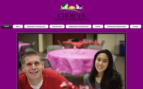 Screenshot of Home Page cts-choices.org - choices-pcs - captured Sept. 27, 2018