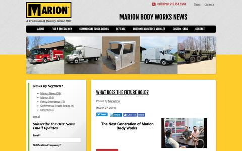 Screenshot of Press Page marionbody.com - News | Marion Body Works - captured April 5, 2019
