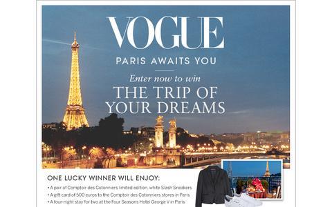 Screenshot of Landing Page vogue.com - Vogue Sweepstakes - captured Sept. 24, 2016
