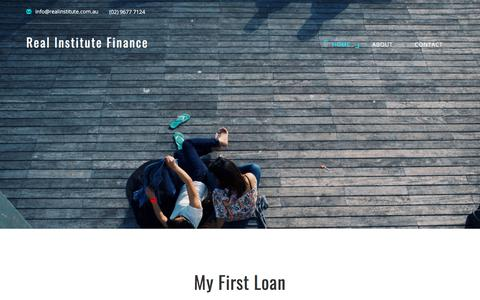 Screenshot of Home Page realinstitute.com.au - Search for short term loans at competitive rates | Real Institute Finance - captured Nov. 3, 2017