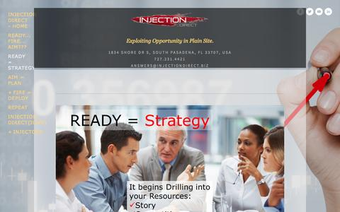 Screenshot of Menu Page injectiondirect.biz - READY = Strategy — Injection DIRECT - captured Sept. 30, 2014