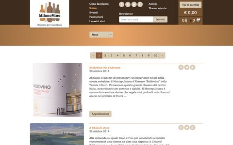 Screenshot of Press Page milanovino.it - MilanoVino - News - captured Nov. 3, 2014