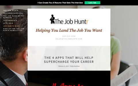 Screenshot of Blog thejobhuntr.com - Job Huntr Blog — The Job Huntr - captured Oct. 18, 2018